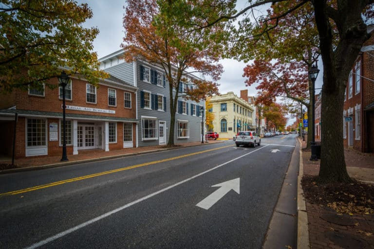 Washington Street, in downtown Easton, Maryland.